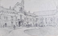 Bryan de Grineau St John's College Oxford The Illustrated London News Front Quad