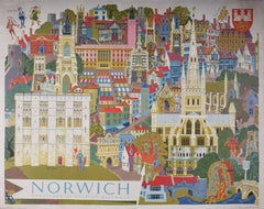 Kerry Lee 'Norwich' Original Poster for British Rail c. 1950