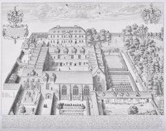 David Loggan Trinity College, Oxford Engraving 1675
