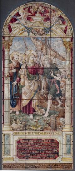British Stained Glass Window Design John the Evangelist - Disciple Jesus Loved