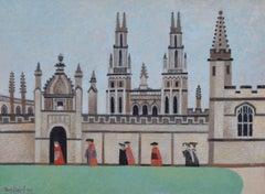 Alfred Daniels All Souls College, Oxford 1998 watercolour Modern British Art