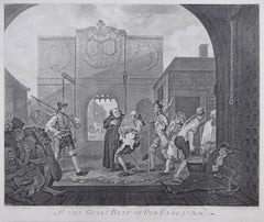 William Hogarth The Gate of Calais, or O The Roast Beef of Old England engraving