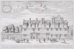 David Loggan, St Albans Hall, Merton College, Oxford, Engraving 1675