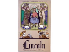 Fred Taylor Lincoln LNER Railway Poster 1930 - Early English Architecture
