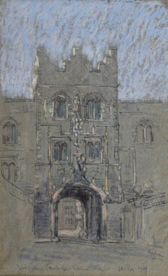 Lord Paul Ayshford Methuen Jesus College Cambridge pastel
