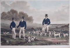 The Merry Beaglers engraving by John Harris after Harry Hall's 1845 painting