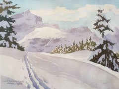 Hermann Kauschke: Alpspitze, Zugspitze u. Waxenstein - Alpine watercolour 1938