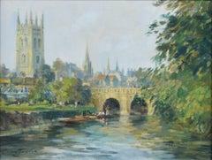 Ivan Taylor Magdalen Bridge Oxford - oil on panel - Modern British Art