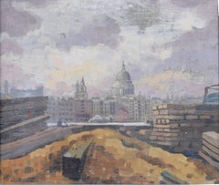 Perry Entract 1935 St. Paul's Cathedral Bankside, Oil, Modern British Art