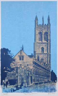 Robert Tavener Magdalen College Oxford Screenprint Modern British Art