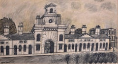 Alfred Daniels: Almshouses Canning Circus Nottingham  - Conte Modern British Art