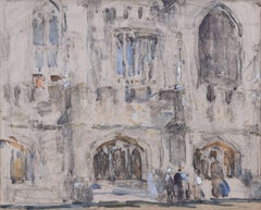 Magdalen College Oxford watercolour by Fred Mayor (1865-1916)