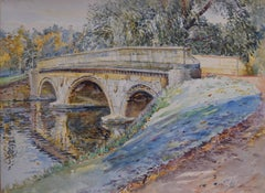 Trinity Bridge Cambridge - George Lilly Anderson - watercolour painting