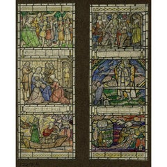 King Arthur Stained Glass Window Design with Wesley Hymn watercolour For TW Camm