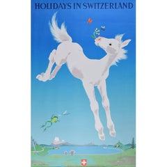 Travel Poster: Donald Brun Holidays in Switzerland 1949 Zurich