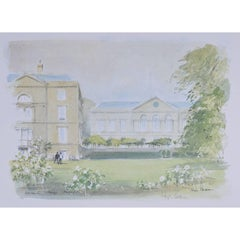 Hugh Casson Worcester College Oxford signed limited print c. 1980