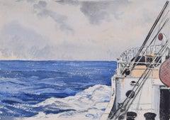 Claude Muncaster: The Bow Wash Maritime Art watercolour