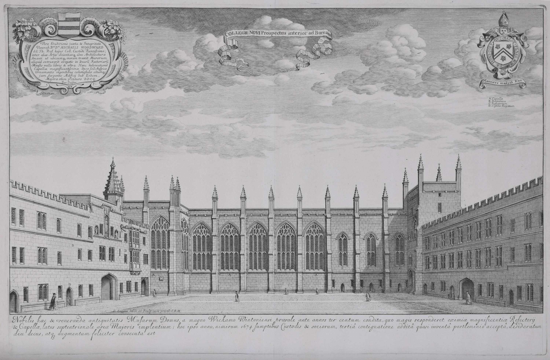 New College, Oxford, engraving, 1690 David Loggan
