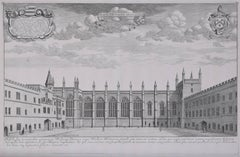 New College, Oxford, engraving, 1690 David Loggan