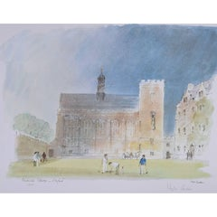 Hugh Casson Pembroke College Oxford signed limited edition print c. 1980