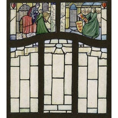 Sir Lancelot and Elaine  Arthurian Stained Glass Window Design For TW Camm