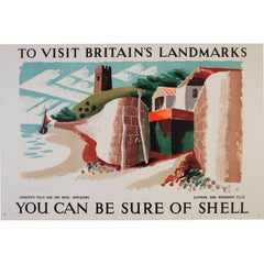 You can be Sure of Shell 1937 Original Poster Clifford & Rosemary Ellis