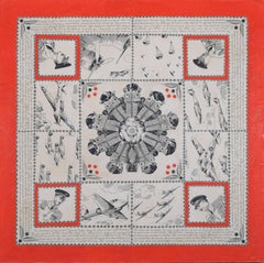 Bianchi Ferrier Design for scarf for R.A.F. World War 2 Battle of Britain