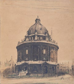 Radcliffe Camera, Oxford, William Nicholson lithograph 1905 for Stafford Gallery