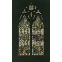 Arthurian British Stained Glass Window Design II c. 1900 TW Camm - King Arthur