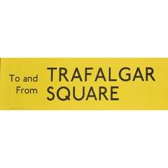 Trafalgar Square, London England Routemaster Bus sign c. 1970