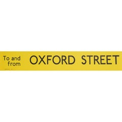 Oxford Street, London England Routemaster or RT Bus sign c. 1970