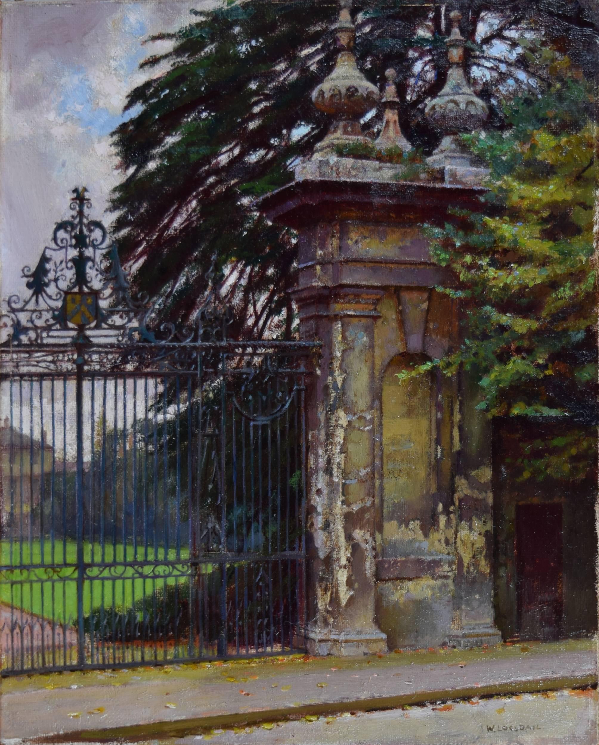 William Logsdail, Trinity College Gateway, Oxford, Oil painting c. 1900