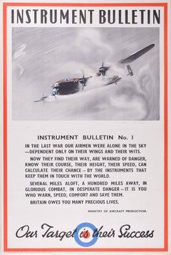 Original Poster: Lancaster Bomber WW2 RAF Aeroplane Owen Miller