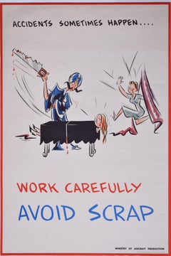 1943 Original Poster Ministry of Aircraft Production: Magician WW2 Nat Harrison