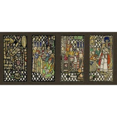 Four Arthurian Stained Glass Window Designs For Mercersburg Academy Chapel, PA