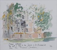 Hugh Casson Jesus College Cambridge watercolour