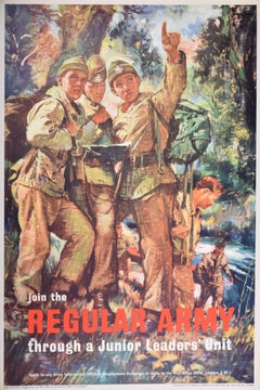 1960s UK Army Recruitment poster, Join the Regular Army Junior Leaders' Unit