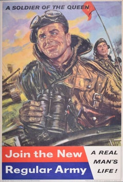 1960s UK Army Recruitment poster, Join the New Regular Army Tank Commander