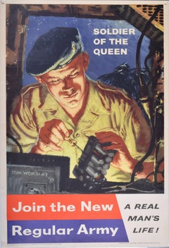 1959 UK Army Recruitment poster, Join the New Regular Army Wireless Operator