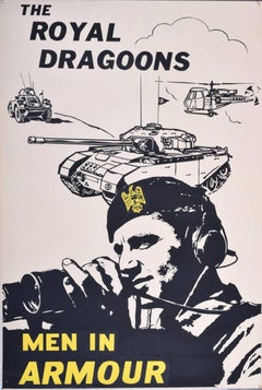 1960 UK Army Recruitment poster, The Royal Dragoons - Men in Armour