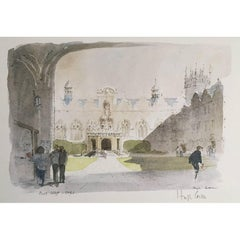 Hugh Casson Oriel College, Oxford limited edition lithograph print