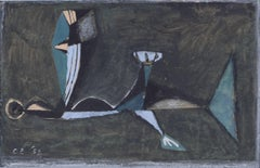 Clifford Ellis Coming of the Ice Age II watercolour 1952 Modern British Art