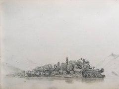 Oscar Andreae - Oscar Andreae: Isola Pescatori Italy drawing