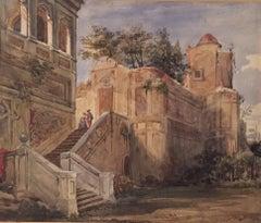 Joseph Nash Ruins of an Italian Villa Watercolour