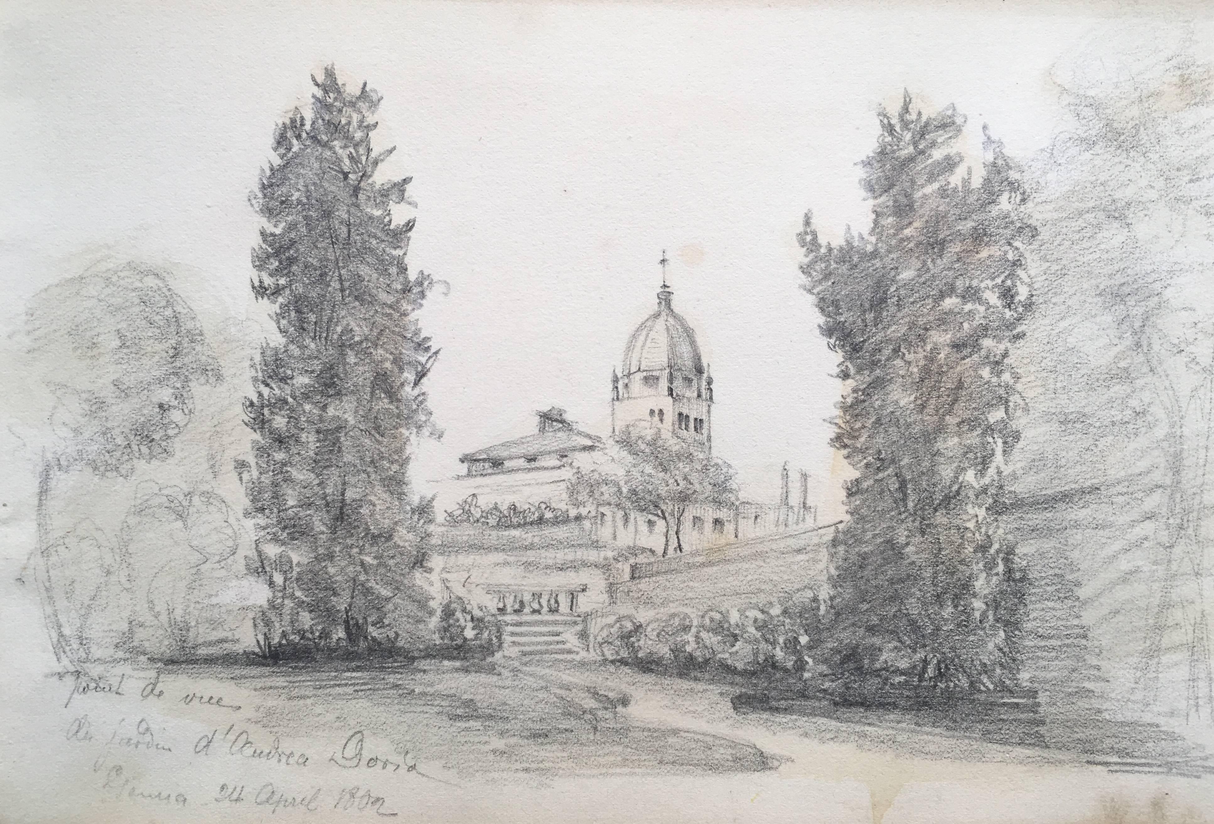 Oscar Andreae: Gardens drawing