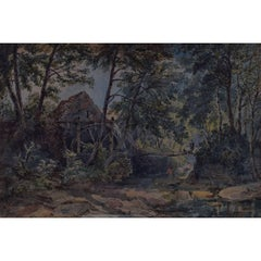 A Welsh Mill: Joseph Murray Ince - 1856 watercolour