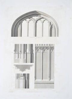 1804 Etching St George's Chapel Windsor Castle Architectural Prince Harry Megan