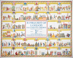 Pageant of London 1926 original London Transport Underground poster E A Cox