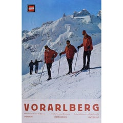 Vorarlberg Austria - Original Vintage Skiing Travel Poster