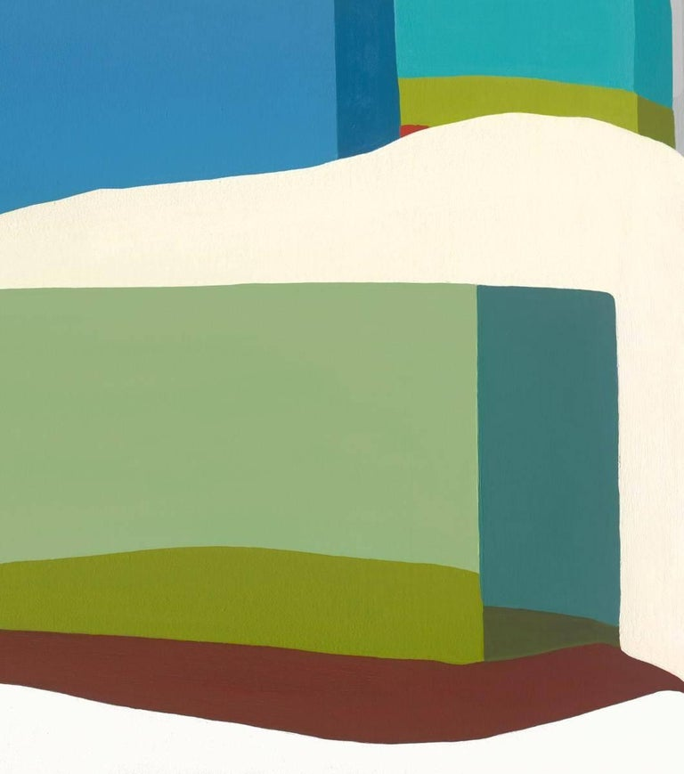 Louise creatively interprets landscapes with contemporary color blocks and simplified shapes. Her abstract compositions combine elements of both urban skylines and scenic horizons found in nature. Inspired by the outdoors, she splits her time